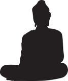 Schattenbild von einem Buddha Stockfotos