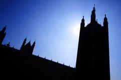Schattenbild von Großbritannien-Haus von parlament in London Stockbilder