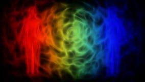 Schattenbild von Leuten mit Aura - extrasensorische Vorstellung lizenzfreie abbildung