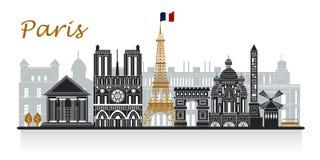 Schattenbild von Paris Lizenzfreie Stockfotos