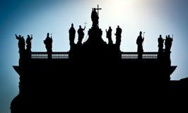 Schattenbild von San Giovanni in Laterano Stockbilder