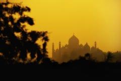 Schattenbild von Taj Mahal Stockbilder