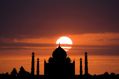 Schattenbild von Taj Mahal lizenzfreie stockfotografie