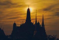 Schattenbild von Wat Phra Kaew Lizenzfreie Stockbilder