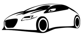 Schattenbildauto stock abbildung