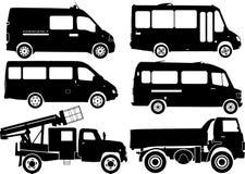 Schattenbildautos, Vektor Stockbild