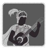 Schattenbildavatara-Jungengitarre vektor abbildung