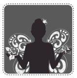Schattenbildavatara-Mädchenprinzessin vektor abbildung