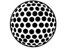 Schattenbildbild einer Golfball Ikone lizenzfreie abbildung