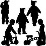 Schattenbilder 06 der Kinder Stockbilder