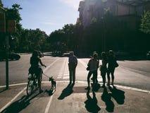 Schattenbilder Lizenzfreie Stockfotos