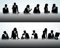 Schattenbilder in den verschiedenen Haltungen Lizenzfreies Stockfoto