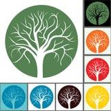 Schattenbilder der Bäume lizenzfreie abbildung