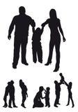 Schattenbilder der Familie lizenzfreie abbildung