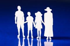 Schattenbilder der Familienmitglieder Lizenzfreies Stockfoto