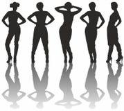 Schattenbilder der Frauen Lizenzfreie Stockfotos