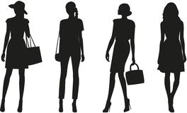 Schattenbilder der Frauen Vektor Abbildung
