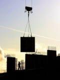 Schattenbilder der Gebäudeauslegungen Stockfotografie