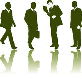Schattenbilder der Geschäftsmänner stock abbildung
