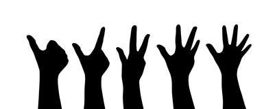 Schattenbilder der Hand stock abbildung