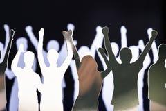 Schattenbilder der herausgenommenen Leute Lizenzfreie Stockfotografie