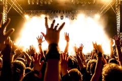 Schattenbilder der Konzertmasse Stockbilder