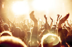 Schattenbilder der Konzertmasse Stockfotografie
