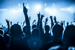 Schattenbilder der Konzertmasse Stockfotos
