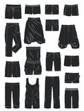 Schattenbilder der kurzen Hosen der Frauen Stockbilder