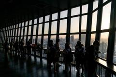 Schattenbilder der Leute Lizenzfreie Stockfotografie