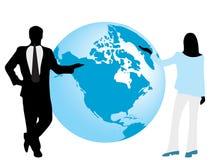 Schattenbilder des Geschäftsmannes und lizenzfreie abbildung