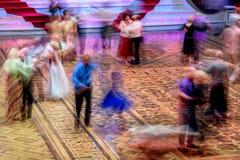 Schattenbilder des Tanzens Lizenzfreie Stockfotografie