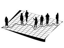 Schattenbilder, die nach Daten suchen Stockfoto