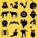 Schattenbilder für Halloween Stockfotografie