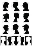 Schattenbilder, Profile Stockfotos