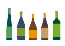Schattenbilder von Flaschen Lizenzfreies Stockfoto