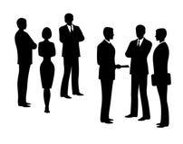 Schattenbilder von Geschäftsleuten Vektor elegant Stockfotos