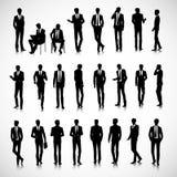 Schattenbilder von Geschäftsmännern Stockfotos