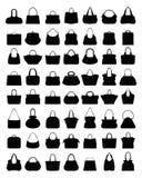 Schattenbilder von Handtaschen Stockbilder