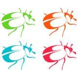Schattenbilder von Käfern Lizenzfreies Stockbild