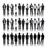 Schattenbilder von Leuten mit verschiedenen Besetzungen Lizenzfreie Stockfotografie