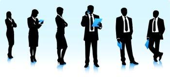 Schattenbilder von moderm Geschäftsleuten Stockfoto