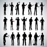 Schattenbilder von verschiedenen Berufmännern Lizenzfreie Stockfotografie