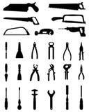Schattenbilder von Werkzeugen Stockbilder