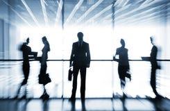 Schattenbilder von Wirtschaftlern Lizenzfreies Stockfoto