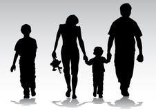 Schattenbildfamilie Lizenzfreie Stockfotos