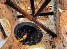 SchattenbildGlockenturm in Avila, Spanien Stockfotografie