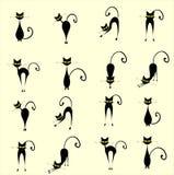 Schattenbildkatzen Stockfotografie