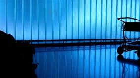 Schattenbildleute am Flughafen stock video