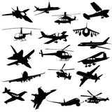Schattenbildluftfahrt Lizenzfreie Stockbilder